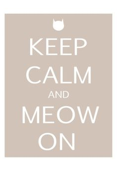 Keep Calm Cat by Kristin Emery. Poster from AllPosters.com, $19.99