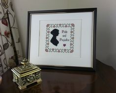 Jane Austen Silhouette Pride and Prejudice Heart Sampler - Cross Stitch Kit | eBay