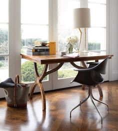 Love this desk!  Pearl inlay table from Marrakesh; Joe and Kimberley Mimran; House & Home