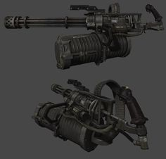 Image result for sci fi minigun