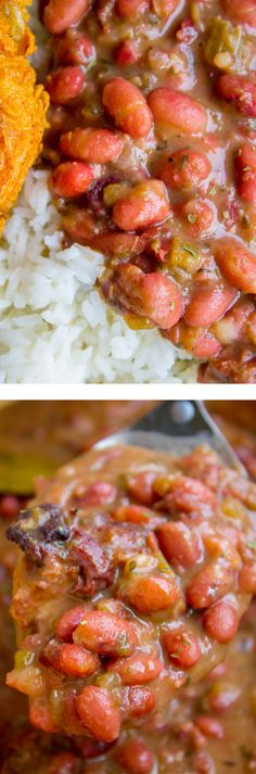 Red Beans and Rice (Better Than Popeye's!) from The Food Charlatan. Have you ever had traditional Red Beans and Rice? It's a southern staple! I tried Popeye's Red Beans and Rice for the first time a while back, but these beans are even better. They are so creamy and flavorful, with the perfect smoky Cajun spice! #redbeansandrice #riceandbeans #beans #rice #ham #hambone #smokey #traditional #southern #cajun #neworleans #popeyes #recipe #easy #stovetop #authentic #withham #Louisiana #best…
