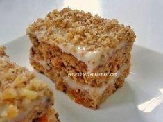 yetur flavor squares: walnut-carrot wet cake - kuchenrezepte home Lemon Recipes, Cake Recipes, Snack Recipes, Dessert Recipes, Summer Desserts, No Bake Desserts, Turkish Recipes, Chicken Parmesan Recipes, Saveur