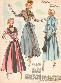 Lote de 8 bocetos de moda impresos. Años 50 Ver fotos - Foto 5