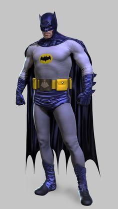 This is pretty damn Batman skin for Arkham Origins. It looks like Adam West done by Frank Miller. Adam West Batman, Batman Vs Superman, Batman Arkham Orígenes, Batman 1966, I Am Batman, Batman Robin, Batman Stuff, Arkham Knight, Nightwing