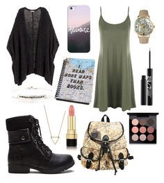 """Wanderlust"" by bluedaisywhale ❤ liked on Polyvore featuring WearAll, H&M, Olivia Pratt, Wanderlust + Co, Blooming Lotus Jewelry, Urban Decay, MAC Cosmetics, Dolce&Gabbana and Casetify"