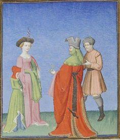 Publius Terencius Afer, Comoediae [comédies de Térence] ca. 1411;  Bibliothèque de l'Arsenal, Ms-664 réserve, 48v