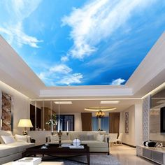Villa Discover Sunny Clear Sky Ceiling Sticker Ceiling decor Sun Heavens Brightly Photo Paper Ceiling Mural Self Adhesive Exclusive Design Photo Wallpaper Ceiling Murals, Wallpaper Ceiling, 3d Wall Murals, Bedroom Ceiling, Ceiling Decor, Room Wallpaper, Custom Wallpaper, Photo Wallpaper, Wallpaper Murals