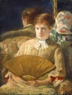 """Miss Mary Ellison"" (1877), by American artist - Mary Cassatt (1844-1926), Oil on canvas, 33 11/16 x 25 5/8 in. (85.5 x 65.1 cm.), Chester Dale Collection, National Gallery of Art -  Washington, D.C., USA.  *Note: Information regarding this painting is via National Gallery of Art in Washington, D.C., USA."