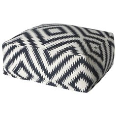 Woven Geometric Pouffe 75cm | Freedom Furniture and Homewares
