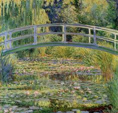 Water Lilies and the Japanese Bridge by Claude Monet Art Print by Palazzo Art Gallery - X-Small Claude Monet Pinturas, Stretched Canvas Prints, Framed Art Prints, Charles Gleyre, Monet Water Lilies, National Gallery, Monet Paintings, Abstract Paintings, Contemporary Paintings