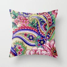 #Society6 - Floral Deco Throw Pillow by Elena Indolfi $ 20.00