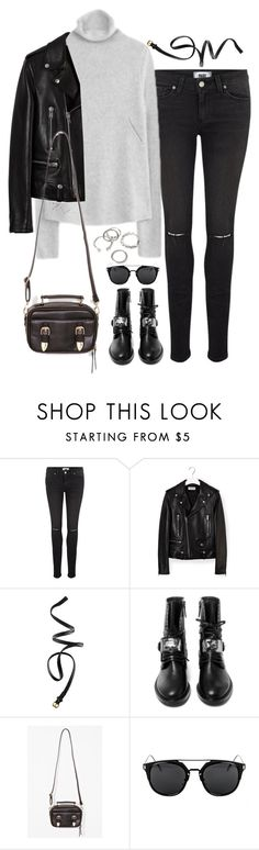 """""""Untitled#4426"""" by fashionnfacts ❤ liked on Polyvore featuring Paige Denim, Zadig & Voltaire, Yves Saint Laurent, H&M, Casadei and Forever 21"""