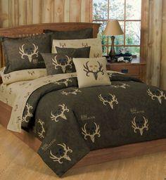 Browning Buckmark Tan 13 Piece Crib Set with Curtains FREE SHIP