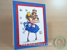 Stamping Bella Tiny Townie Bree Loves Buttercream Handmade Card and Videos www.markergeek.com