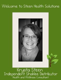 Krysta's Shaklee Story began when she decided to try switching to non-toxic cleaners in an effort to reduce daily migraines - it worked like a charm! Both the cleaner worked and the headaches stopped!! http://steenhealthsolutions.myshaklee.com/ Krysta loves to help people find cleaning solutions that work and also provide a healtier family environment. I am a chemical free kind of girl and I recommend Shackee products as well as Krysta! http://www.debbixler.com/home-business-training.html