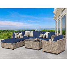 TK Classics Monterey 7 Piece Deep Seating Group with Cushion & Reviews | Wayfair