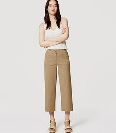 Primary Image of Cropped Wide Leg Pants