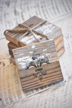 barn wood coasters by Sew Blessed