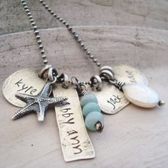 handstamped name jewelry personalized necklace by CremeDeLaGems, $85.00