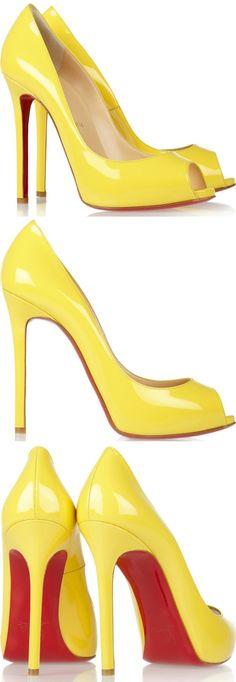 christian louboutin shoes for men Christian Louboutin Outlet, Yellow Shoes, Dream Shoes, Hot Shoes, Mellow Yellow, Designer Shoes, Me Too Shoes, Shoe Boots, Peep Toe