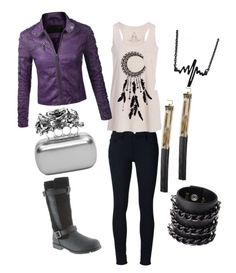 """""""Edith's Leather and Roses Moto-Fantasy"""" by bearpawstyle on Polyvore"""