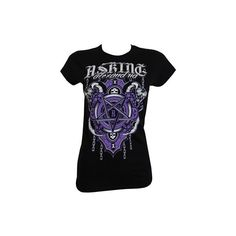 Asking Alexandria Demonic Ladies Black T-Shirt ($21) ❤ liked on Polyvore featuring tops, t-shirts, shirts, asking alexandria, band merch, goth t shirts, metal t shirts, t shirts, goth shirts and metal shirts