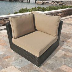 Morgan' Brown Wicker Outdoor Corner Chair