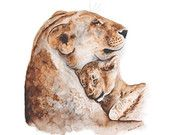 Baby Animal Prints Animal Art Nursery Decor por TinyToesDesign