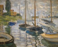 Claude Monet - Sailboats on the Seine, 1874