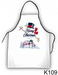 Szakács kötény, hóemberek, karácsony