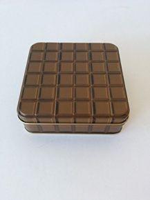 Gawol fémdoboz, 10x10x3 cm, csokoládés