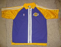 Los Angeles Lakers Vintage 1990s Sewn Champion Warm Up Shooting Shirt Xl  Rare from  25.0 706aaabf8