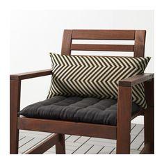 GRENÖ Cushion, outdoor, dark blue, beige dark blue/beige 23 1/4x11 3/4