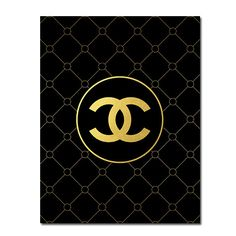 BUY 1 GET 1 FREE Printable Coco Chanel logo poster от ZirkaDesign, $5.00