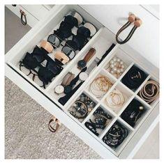 Accessories drawer Closet Hacks, Closet Organization, Organization Ideas, Storage Ideas, Closet Ideas, Diy Storage, Closet Storage, Bedroom Storage, Jewelry Organization