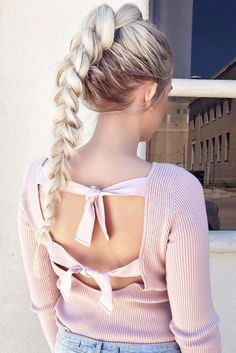 A ponytail braid is the perfect example of how classy hairstyles can be mixed and upgraded. This is the combination that will never seize surprising you.