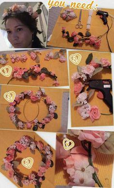 DIY Flower Crown. 5 easy steps