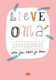 Kaft van boek 'Lieve oma' van @Suzanna van der Laan Snor - Snor Publishers, mooie letters. #Handwritten #typography