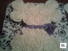 Wedding Dress Cupcake Pull Apart - Cake Central Community (covering board idea)