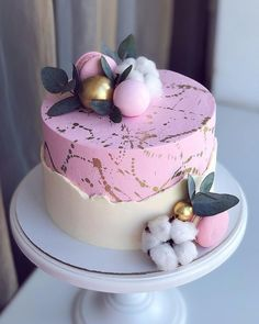 We celebrate the cake bakers. The Exquisite 🌺 Cake. Elegant Birthday Cakes, Cute Birthday Cakes, Beautiful Birthday Cakes, Gorgeous Cakes, Pretty Cakes, Amazing Cakes, Cake Cookies, Cupcake Cakes, Decoration Patisserie