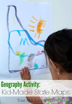 USA Geography Activities: Exploring Idaho with Kid-made Maps plus activities for all 50 states!
