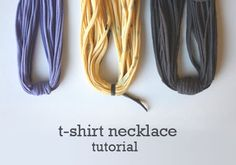 Tee Shirt Necklace Tutorial | Thursday, May 14, 2009