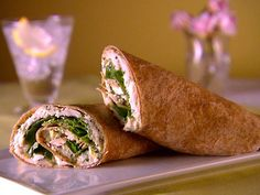 Cooking Channel serves up this Rolled Chicken Sandwich with Arugula and Parsley Aioli recipe from Giada De Laurentiis I would omit the mayo and add veggies like carrots, peppers, cucumber and zucchini. Maybe even an apple Giada Recipes, Wrap Recipes, Cooking Recipes, Uk Recipes, Cooking Food, Easy Cooking, Recipes Dinner, Food Network Recipes, Food Processor Recipes