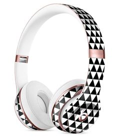 The All Over Black Micro Triangles Full-Body Skin Kit for the Beats by Dre Solo 3 Wireless Headphones