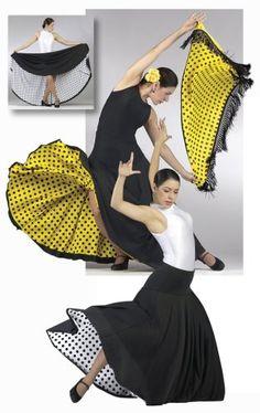 a9d3d77dd Love the glimpse of underskirt and equally, the no nonsense plain black or  white vest. Spanish DressSpanish DanceFlamenco ...