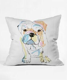 Look at this #zulilyfind! Bulldog Throw Pillow #zulilyfinds