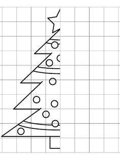 * Teken de kerstboom af en kleuren maar!