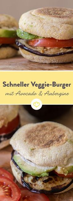 Toastbrötchen aufgebacken, Aubergine gebraten, alles mit leckerer Sauce aufgetürmt und fertig ist der vegetarische Leckerbissen.