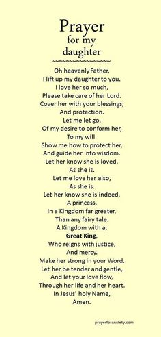"""""""Prayer for daughter"""" .found this under prayers for daughter.only appropriate that I should pin for my daughter too! Prayer Scriptures, Bible Prayers, Faith Prayer, My Prayer, Prayer For Wisdom, Prayer For Baby, Prayer Circle, Jesus Prayer, Prayers For My Daughter"""
