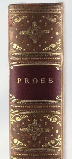 Prose 19th century leather bound book